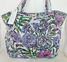 Vera Bradley Lavender Meadow Purple Lilac Iconic Glenna Satchel Purse Bag
