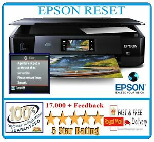 EPSON XP-510-610-615-710-810-950 EPSON WASTE INK PADS RESET DVD