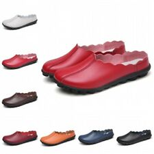 35-43 Womens Slip On Lazy Loafers Casual Slippers Mules Non-slip Flats Shoes B