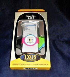IXOS Clear case ipod nano 2nd gen with scroll wheel protectors & Lanyard