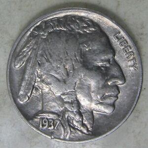 1937 P Buffalo Nickel EF #1