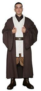 Star Wars Obi Wan Kenobi Costume +Dark Brown Jedi Robe Film Set Quality