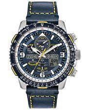 Citizen Men's Promaster Blue Angels Skyhawk A-T Leather Strap Watch JY8078-01L