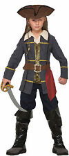 Kids Captain Cutlass Pirate Costume Caribbean Pirate Jack Sparrow Size Small 4-6