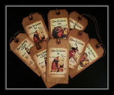 PRIMITIVE HALLOWEEN WITCH HANG TAGS - WHAT DO WITCHES DO?