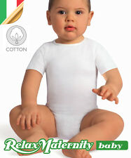BODY MANICHE BAMBINO COTONE RelaxMaternity Baby INTIMO BIMBI 6 36 MESI NEONATO