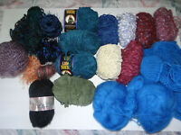 Mixed Lot of Yarn Different Skeins Colors