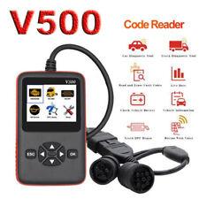 V500 OBD2 EOBD DPF Oil Reset Code Reader Diagnostic Tool For 12V Car 24V Truck
