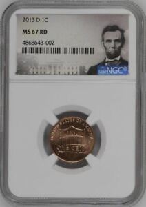 2013-D LINCOLN SHIELD CENT 1c NGC MS67 RD