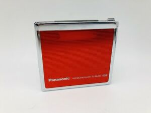 MD1223 Excellent  Panasonic PORTABLE MD PLAYER SJ-MJ50  Red