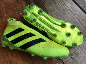 Rare Adidas Ace 16+ PureControl Solar Yellow FG Soccer Cleats 8.5
