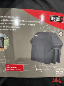 Weber Grill Cover With Storage Bag 7107 Fits Genesis 300 Series Gas Grills - New