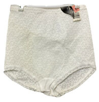 Lot of 2 Renette High Waisted Panty Brief Tummy Control Shaper White Lace L