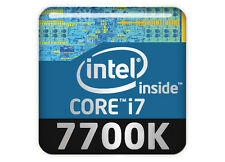 "Intel Core i7 7700K 1""x1"" Chrome Effect Domed Case Badge / Sticker Logo"
