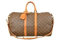 Louis Vuitton Monogram Keepall 45 Bandouliere Travel Bag Strap M41418 - YG00129