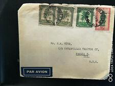 Belgien, Afrika, Belgisch Congo: Leopoldville nach USA, 24.12.1947, mit Inhalt