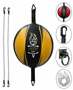 Leather Double End Dodge Speed Ball MMA Boxing Floor to Ceiling Punch Bag