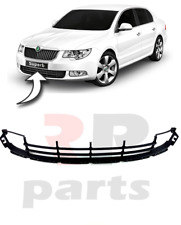 FOR SKODA SUPERB (3T) 2008-2013 NEW FRONT BUMPER LOWER CENTER GRILL BLACK