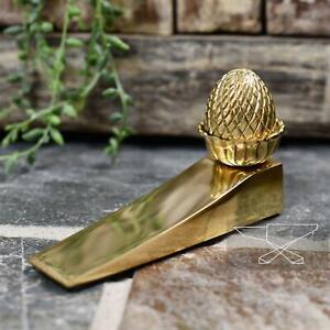New Brass Acorn Design Door Wedge - 127mm x 77mm