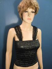 b661820b9a Size S black NWT CORSET WITH LACE STRAPS STEAMPUNK COSTUME top by TARGET