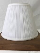 "White Pleated Fabric Lamp Shade 11""x9x6"" Traditional Empire Cone Gathered Spider"