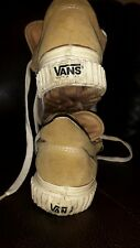Vintage Rare 70s Made In The Usa Vans Sneakers Size 8 Leather Panel rugged soles