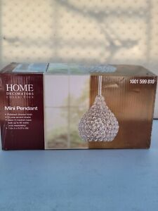 Home Decorators 1-Light Polished Chrome Pendant with Clear Crystal Accents