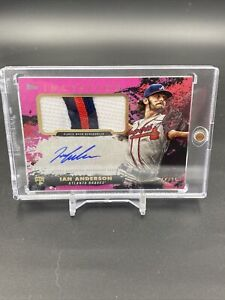 2021 Topps Inception IAN ANDERSON Rookie Patch Auto #'d 44 of 75 - Braves RC
