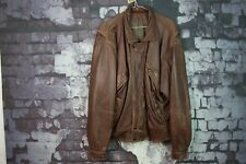 Mens Brown Leather Jacket size M No.Z988 8/12