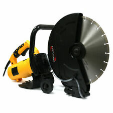 "14"" Portable Concrete Saw 3200w Corded Electric 4100 RPM W/ Water Pump & Blade"