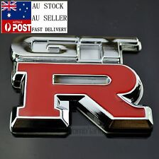 AU GTR Metal Chrome 3D Racing Sport Car Badge Emblem Sticker Decal