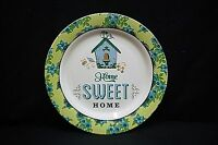 "Classic Style Maud Borup Home Sweet Home 9"" Plate Blue Floral Green Rim"