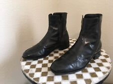 VINTAGE BLACK FLORSHEIM ZIP UP BEATLE DISCO BOOTS 8 D