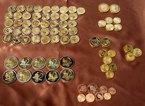 Collection of 77 Euro Coins  Patten / Specimen coins Included 51 x 2 Euro coins