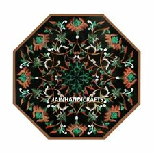 2'x2' Table Marble Inlay Top pietra Dura Home garden coffee dining Decor o40
