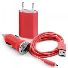 Chargeur 3 en1 Secteur Usb Data rouge pour Altice SX41