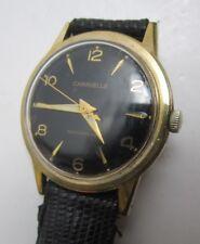 Vintage Caravelle by Bulova Black Dial GF Case Men's Wrist Watch M6
