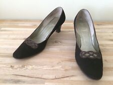 Vintage Shoes Delman for Montaldo's 10 Aaa Leather Suede Classic