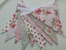 Tanya Whelan Bunting flags or banner for child's bedroom, garden, birthday pink