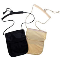 Travel Anti-Theft Passport Phone Nylon Pouch Mini Chic Crossbody Bag Neck Wallet