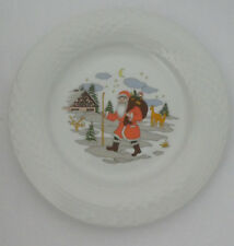 Hutschenreuther Scala CHRISTMAS PLATE Santa Claus ST Nicholas GERMANY NEW B