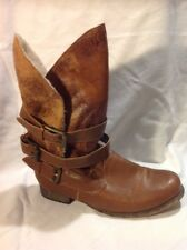 River Island Brown Mid Calf Leather Boots Size 38