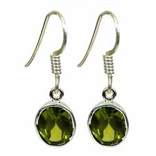 small peridot Earrings Silver plated Jewelry a4