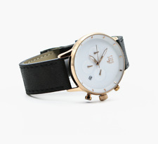 Men's Elegant & Minimalist Watch   Stainless Steel & Genuine Leather - Rose Gold