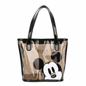 Disneyland Lady Woman Mickey Mouse PVC Transparent Shoulder Casual Bag Handbag