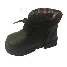 Scarpe nere medio con cerniera per bambini dai 2 ai 16 anni