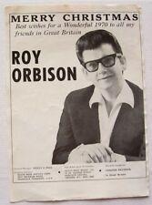 ROY ORBISON 1970 original MERRY CHRISTMAS PROMO ADVERT