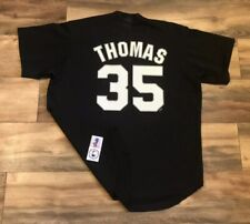 Chicago White Sox Frank Thomas #35 Vintage Majestic MLB Baseball Jersey Mens XL