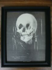 Vintage ALL IS VANITY Allen C Gilbert skull optical illusion FRAMED 8x10 PRINT