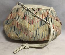 Vintage Retro Rappi Womens Silk Multi-Color Medium Purse/Clutch, Made in Italy